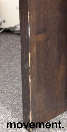 Barbord / ståbord i brunbeiset eik, 180x80cm, høyde 90cm, brukt med noe slitasje bilde 5