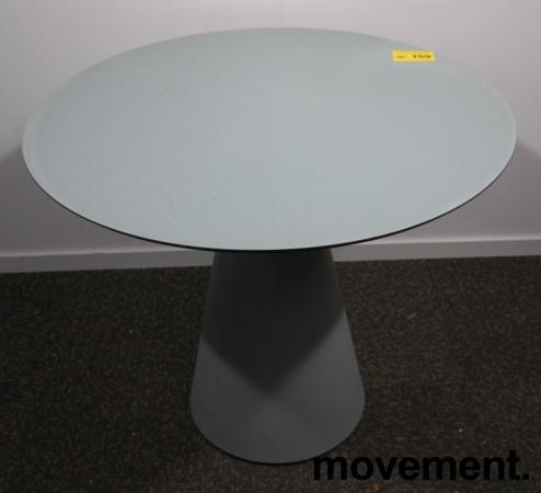 Rundt kafebord / bord for uteservering i grått, Ø=89cm, brukt med noe slitasje bilde 6
