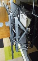 Pop-out veggfeste for videowall-skjermer, for 46toms og større skjermer, pent brukt