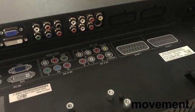 Flatskjerms-TV fra Dell, 37toms, W3706MC, 1366x768 HD Ready, uten bordfot, pent brukt bilde 3