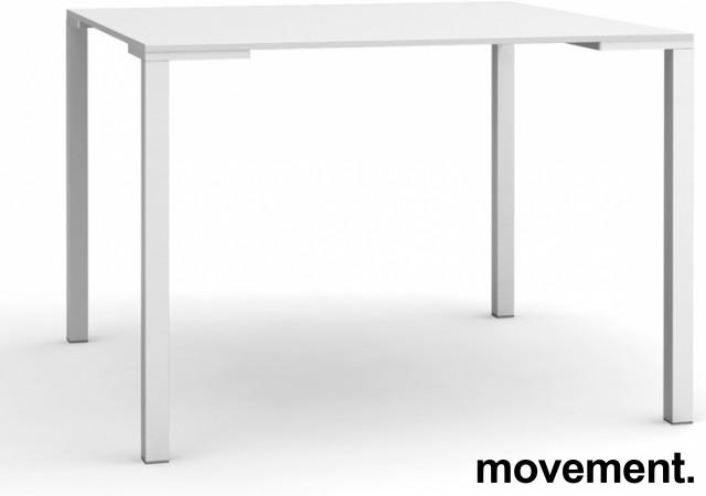 Kafebord / lite møtebord i hvitt fra Pedrali, modell Togo TG, 79x79cm, pent brukt bilde 1