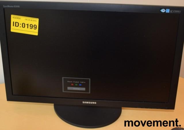 Flatskjerm til PC: Samsung Syncmaster B2440, 24toms, 1920x1080, VGA/DVI, pent brukt bilde 2