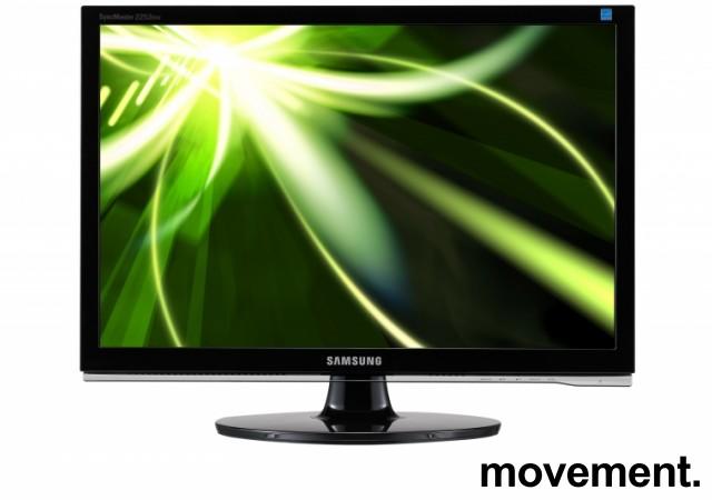 Flatskjerm til PC: Samsung Syncmaster 2253BW, 22 tommer, 1680x1050 , VGA/DVI, pent brukt