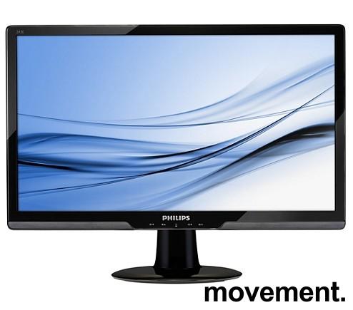 Flatskjerm til PC: Philips 243E2, 24toms, 1920x1080 FULL HD, VGA/DVI, pent brukt
