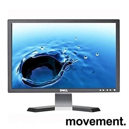 Flatskjerm til PC: Dell E228WFPt, 22toms, 1680x1050, VGA/DVI, pent brukt