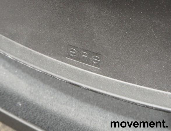 Konferansestol / stablestol i sort fra EFG, pent brukt bilde 3
