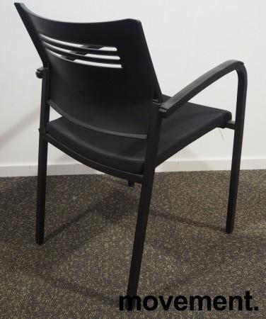 Konferansestol / stablestol i sort fra EFG, pent brukt bilde 2