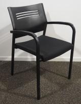 Konferansestol / stablestol i sort fra EFG, pent brukt