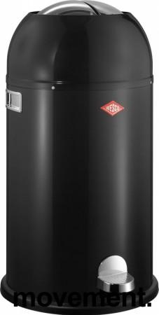 Wesco avfallsspann, Kickmaster 33 liter, sort / krom, pent brukt bilde 1