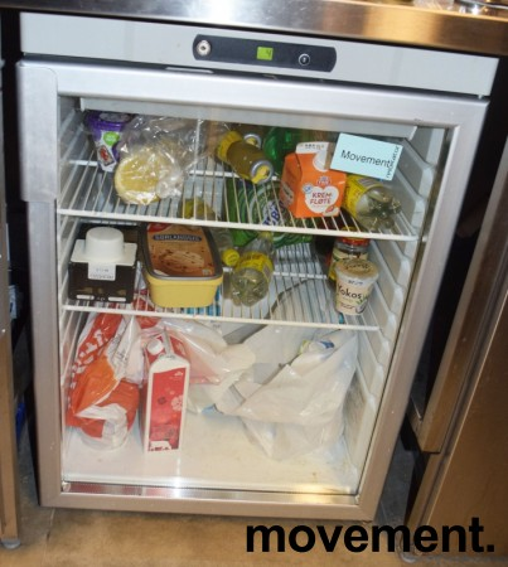 Underbenk kjøleskap med glassdør fra Gram, modell KG200LE, 60cm bredde, 83,5cm høyde, pent brukt bilde 2