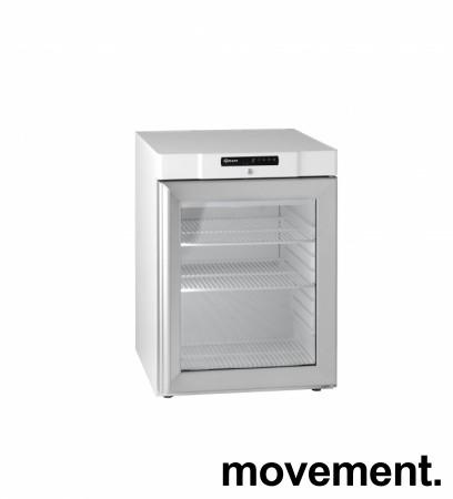 Underbenk kjøleskap med glassdør fra Gram, modell KG200LE, 60cm bredde, 83,5cm høyde, pent brukt bilde 1