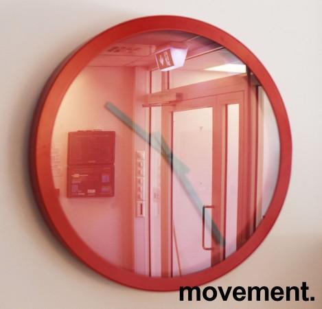 Veggklokke / veggur i rødt fra Jan Des Bouvrie, Ø=X, pent brukt bilde 3
