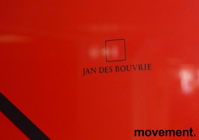 Veggklokke / veggur i rødt fra Jan Des Bouvrie, Ø=X, pent brukt bilde 2