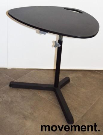 Lite sidebord / loungebord / kaffebord i sort, Ikea, justerbar høyde, pent brukt bilde 1