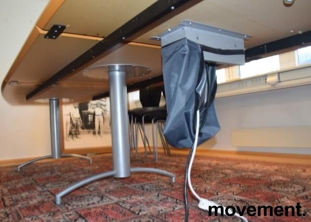 Møtebord i grått/mørkegrått, understell i grått, 420x114cm, passer 14-16 personer, pent brukt bilde 5