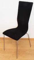 Konferansestol fra EFG HovDokka i sort mikrofiber (comfort) / alugrå ben, høy rygg. modell GRAF, pent brukt