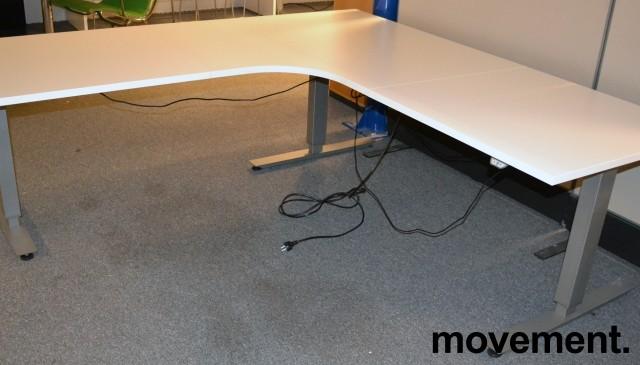 Hjørneløsning elektrisk hevsenk fra EFG i hvit, 200x200cm, NY PLATE / pent brukt bilde 3