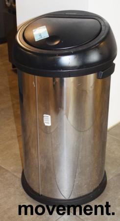 Brabantia Touch Bin søppelbøtte 60 liter, høyde 72,5cm, pent brukt