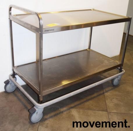 Kantinetralle / trillevogn i rustfritt stål fra Metos, 118x63x90cm, pent brukt bilde 1