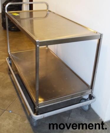 Kantinetralle / trillevogn i rustfritt stål fra Metos, 118x63x90cm, pent brukt bilde 2