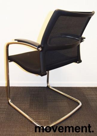Konferansestol: Sedus Open Up Up-233 sort stoff / mesh rygg / krom ramme, pent brukt bilde 2