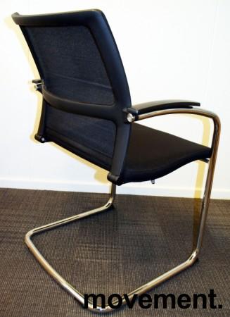 Konferansestol: Sedus Open Up Up-233 sort stoff / mesh rygg / krom ramme, pent brukt bilde 3