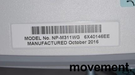 NEC Prosjektor M311W, 3100Lumen, HDMI, Widescreen 1280x800, pent brukt - kun 59timer på pære! bilde 3