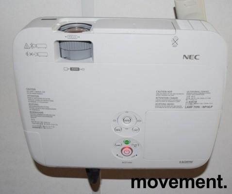 NEC Prosjektor M311W, 3100Lumen, HDMI, Widescreen 1280x800, pent brukt - kun 59timer på pære! bilde 5