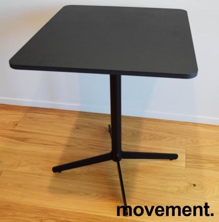 Loungebord / kaffebord, sort plate, Edsbyn modell Feather, 70x60cm bordplate, 73cm høyde, pent brukt bilde 2
