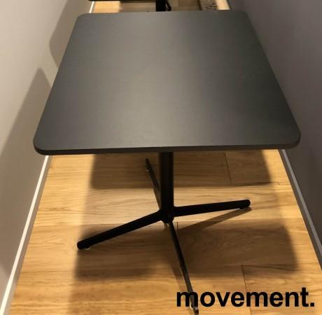 Loungebord / kaffebord, sort plate, Edsbyn modell Feather, 70x60cm bordplate, 73cm høyde, pent brukt bilde 4