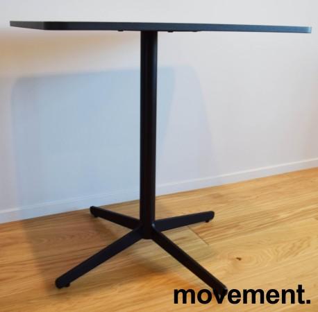 Loungebord / kaffebord, sort plate, Edsbyn modell Feather, 70x60cm bordplate, 73cm høyde, pent brukt bilde 3