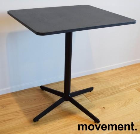 Loungebord / kaffebord, sort plate, Edsbyn modell Feather, 70x60cm bordplate, 73cm høyde, pent brukt bilde 5