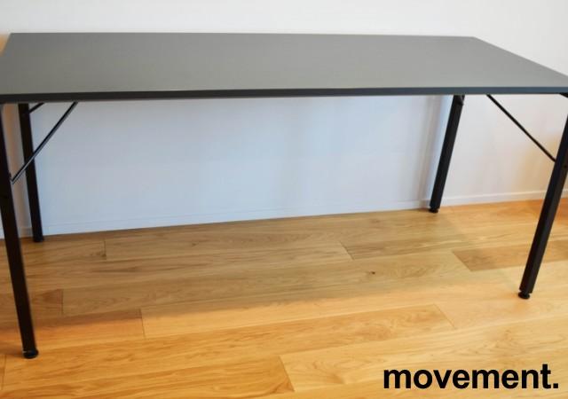 Ståbord / Barbord, Martela Alku-serie, Grå bordplate, sorte ben, 200x80cm, 90cm høyde, pent brukt bilde 1