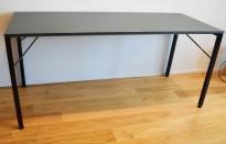 Ståbord / Barbord, Martela Alku-serie, Grå bordplate, sorte ben, 200x80cm, 90cm høyde, pent brukt