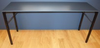 Ståbord / Barbord, Martela Alku-serie, Grå bordplate, sort understell, 200x60cm, 90cm høyde, pent brukt