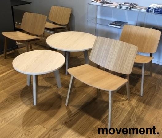 Loungestol i eik fra Magnus Olesen, modell Freya Lounge 4731, Design: Says Who, pent brukt bilde 5
