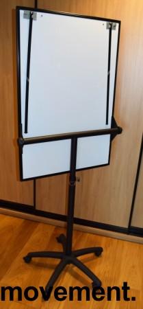 Flipovertavle med whiteboard, på hjul fra Staples, pent brukt bilde 2