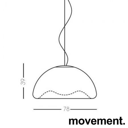 Stor pendellampe: Lumen Center Italia, modell Iceglobe Semi Gigant S 78cm, pent brukt bilde 3