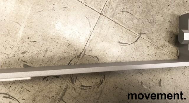 Støttefot / Støtteben til Kinnarps Rezon skillevegg-serie, grålakkert metall, Ny bilde 4