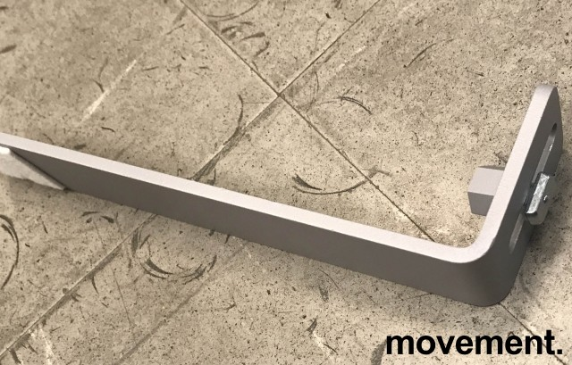 Støttefot / Støtteben til Kinnarps Rezon skillevegg-serie, grålakkert metall, Ny bilde 2