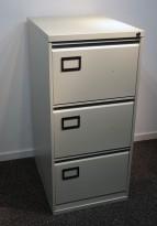 Arkivskap i stål for folio-mapper i hvitlakkert stål, 47cm bredde, 102cm høyde, brukt