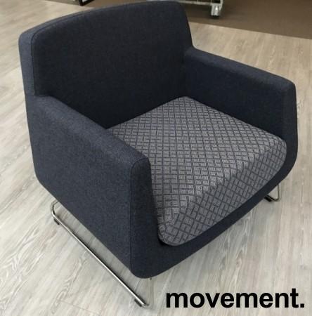 Loungestol fra Skandiform, modell Jefferson i grått stoff, 92cm bredde, pent brukt bilde 2