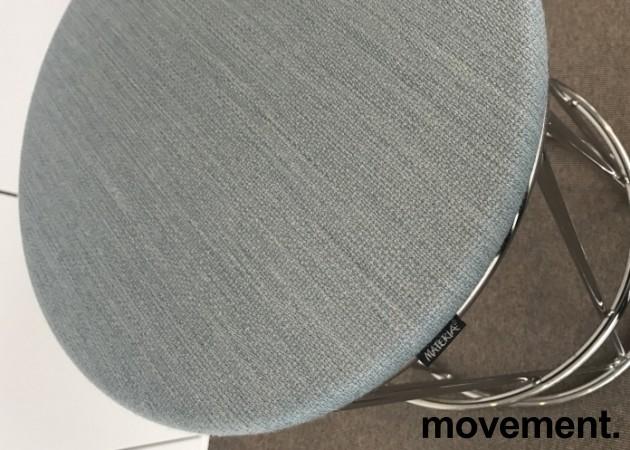 Barstol / barkrakk fra Materia, modell Elephant i lys blå / krom, 80cm sittehøyde, pent brukt bilde 3