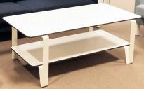 Loungebord fra Materia, modell Cosmo i hvitt, 133x65cm, H=50cm, pent brukt