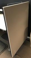 Lyddempende skillevegg i mørk grå / lys beige fra Glimakra, Limbus, B94cm x H126,5cm, pent brukt