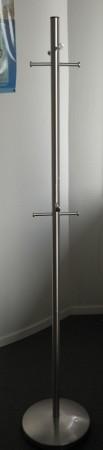 Stumtjener for kontor i rustfritt stål, 172 cm høyde, pent brukt bilde 1