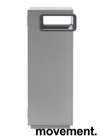 Lekker avfalssbøtte for offentlig miljø fra Røros Produkter, modell Nobel 100Liter frittstående, pent brukt bilde 1