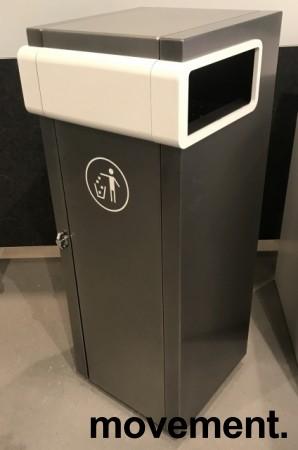 Lekker avfalssbøtte for offentlig miljø fra Røros Produkter, modell Nobel 100Liter frittstående, pent brukt bilde 3