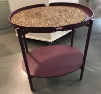 Lite settebord med serveringsbrett fra NC i lilla farge, pent brukt