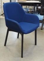 Kartell Clap 4181 Konferansestol i blått / sort understell, design: Patricia Urquiola, pent brukt